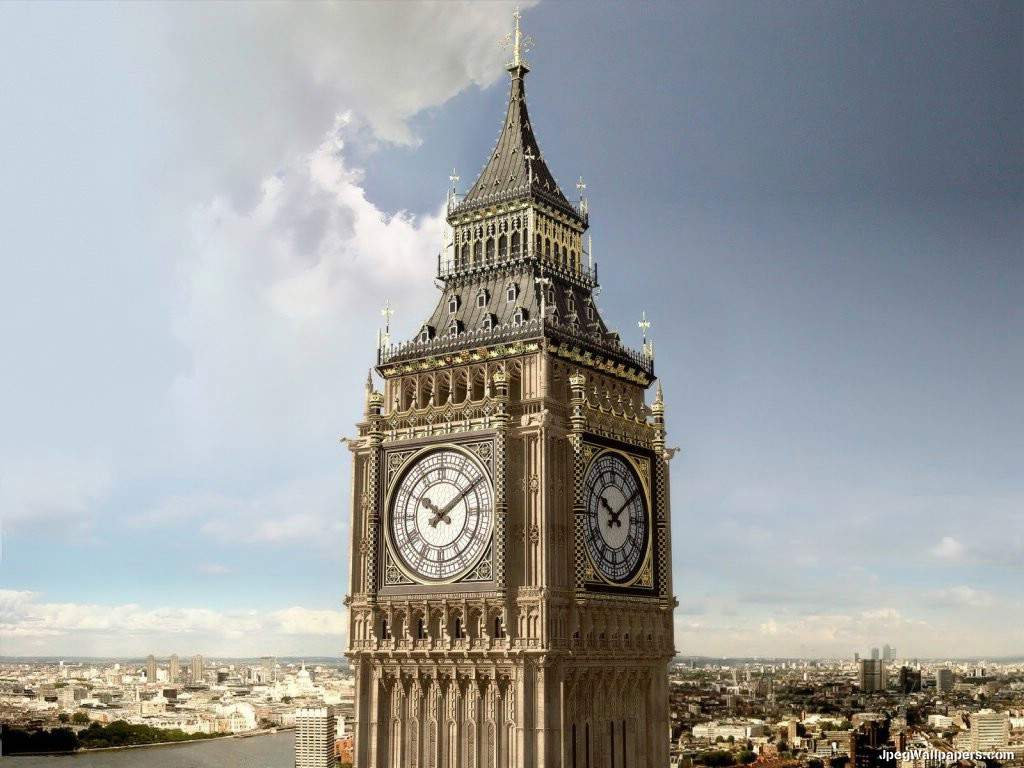 Big tower clock wallpaper